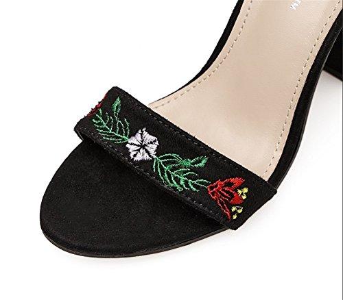 en casual cm Taille dames 35 2018 poisson hauts chaussures été et plage de printemps chaussures mode chaussures sandales bouche talons respirant TMKOO 11 nouvelles tqUzwB