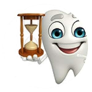 alfombrilla de ratón personaje de los dientes con el reloj de arena - ronda - 20cm