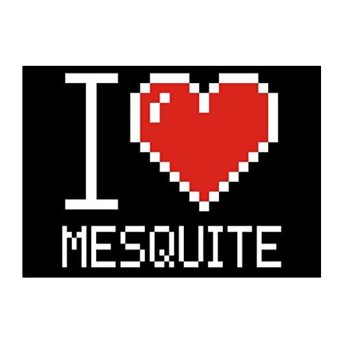Idakoos - I love Mesquite pixelated - US Cities - Sticker Pack - Us Mesquite