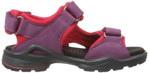 Ecco Biom Sandal Black/Black/Dynasty Ba/S/Tex 703502 - Sandalias de cuero para unisex-adulto, color morado, talla 27 Morado (Violett (FUCHSIA/BLACK 51163))