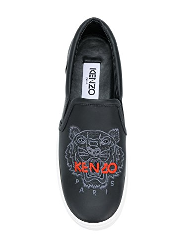 Kenzo Pelle F852SN400L7299 Sneakers Slip Nero On Donna qwZapTWxqr