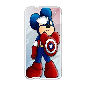 DIY Stylish Printing Captain America Cover Custom Case For HTC One M7 V6Q822346