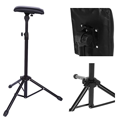 Armrest Tripod Stand, Adjustable Tattoo Tripod Stand Arm Leg Rest Chair Sponge Arm Bar Rest Studio Chair Leg Rest