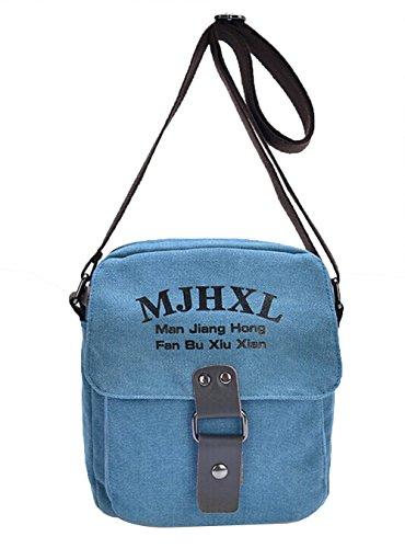 Genda 2Archer Lienzo Hombro Crossbody del bolso Messenger Bolso MJH-1150 (Ejercito Verde) Azul