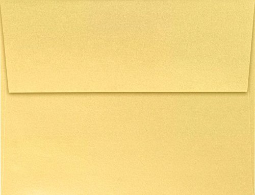 A2 Invitation Envelopes (4 3/8 x 5 3/4) - Gold Metallic (50 Qty) | Perfect for Invitations, Announcements, Sending Cards | 5370-07-50 (A2 Announcement)
