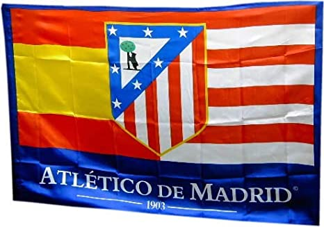 BANDERA ATLETICO DE MADRID 150x100 CM: Amazon.es ...