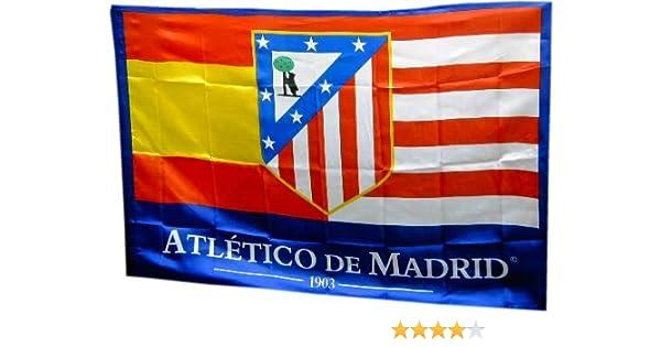 BANDERA ATLETICO DE MADRID 150x100 CM: Amazon.es: Deportes y aire ...