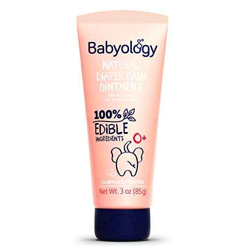 Babyology - 100% Edible Ingredients - Organic Baby Diaper Rash Cream - Calming Eczema Relief for Sensitive Skin - 3 OZ - Clinically Tested (Single Pack)