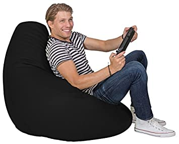 Lumaland Luxury Stylischer Gaming Beanbag Lederimitat Sitzsack 230l