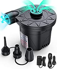 Electric Air Pump, Chefic Air Mattress Pump for Inflatables, Portable Quick-Fill Inflator & Deflator Air P