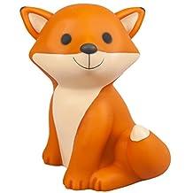 Cesar Baby Fox Cute Orange LED Night Light Battery Operated Kids Room