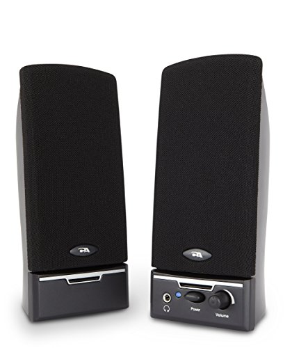 Cyber Acoustics 2.0 Amplified Speaker System Delivering Quality Audio (CA-2014WB) by Cyber Acoustics