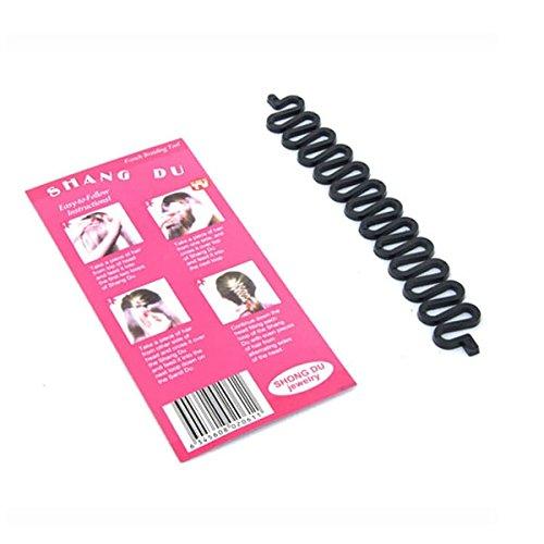 Tinksky Magic Women Girls Centipede Braid Twist Hair Braider DIY Hair Styling Tool (Black)