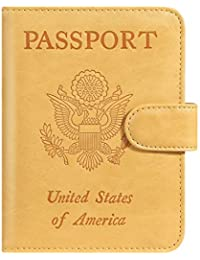 ce156421ba8 Passport Holder Cover Wallet RFID Blocking Leather Card Case Travel  Accessories for Women Men