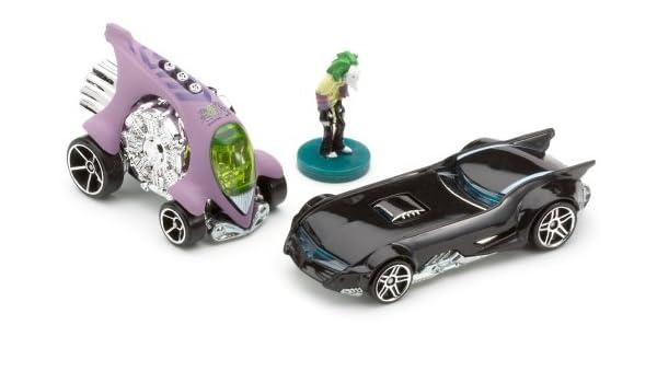 Hot Wheels Mattel - Miniatura de Coches Pack de 2 Batman Super Hero - Dos Coches y la Figura de Joker: Amazon.es ...