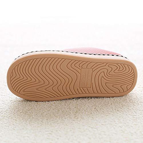 Femmes Slip Pantoufles Chaussures Pour Cliont Noir Hommes Intérieur Anti Mignon Les Chat Lapin Et YqwXxXEz4