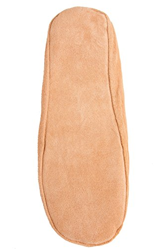 Brubaker Men and Women Slippers, Slippers Tan Suede Interior in Pure New Wool