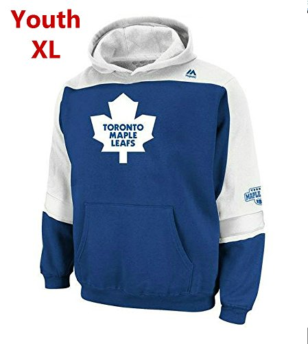 - Majestic Toronto Maple Leafs Youth X-Large Hoodie Hooded NHL Lil Ice Sweatshirt