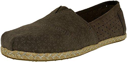 Toms Rope Sole 1019B09R - Zapatos para mujer, color negro, talla 38,5 Dark Grey Suede Moroccan/Rope
