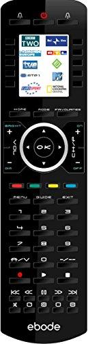 Ebode TAKE10IRRF Universal Fernbedienung mit LCD Screen inkl. RF für 10 A/V Geräte