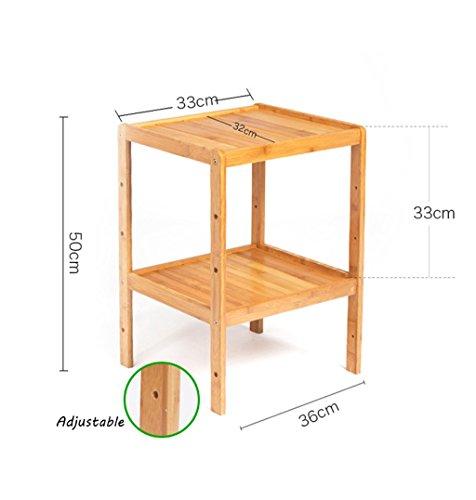 Standing Shelf Bathroom Wood Organization Storage Rack Standing Shelving Unit Living Room Bamboo Bookcase Cube Kitchen Cabinet Bookshelf Flower Rack (Size : 2-tier) by LPZ-Shelving (Image #1)