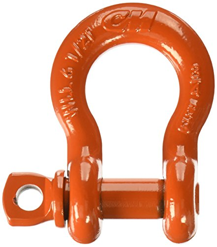 3 Ton Work Load Limit 1//2 Size CM M650P Super Strong Anchor Shackle with Orange Powder Coated Screw Pin