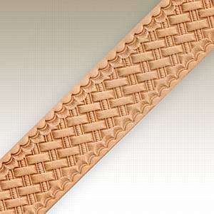 Springfield Leather Company Basketweave Embossed Belt Blank with Snaps