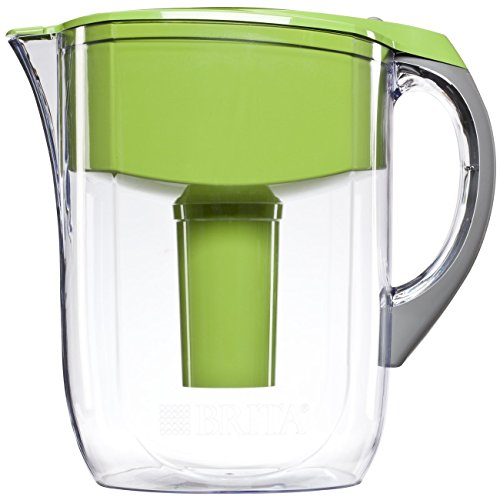 Brita Large 10 Cup Water Filter Pitcher with 1 Standard Filter, BPA Free - Grand, Green - 35940