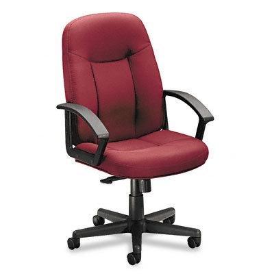 (basyx VL601VA62T - VL601 Series Managerial Mid-Back Swivel/Tilt Chair, Burgundy Fabric/Black Frame)
