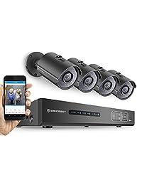 Amcrest 720P HD Over Analog (Tribrid HDCVI IP) 16CH DVR de seguridad de vigilancia con 16