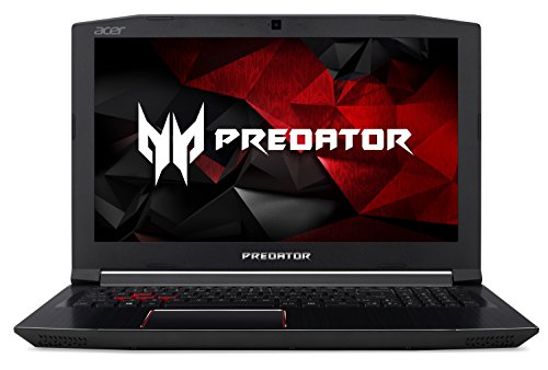 "Acer Predator Helios 300 Gaming Laptop, 15.6"" Full HD IPS, Intel i7 CPU, 16GB DDR4 RAM, 256GB SSD, GeForce GTX 1060-6GB, VR Ready, Red Backlit KB, Metal Chassis, Windows 10 64-bit, G3-571-77QK"