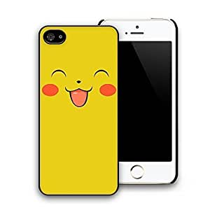 Yellow Lovely Smile Face Cartoon Pattern Hard Plastic Back Case Cover for iphone 5 iphone 5s