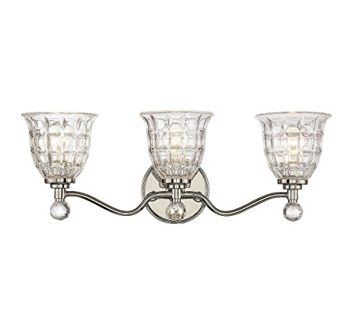 Savoy House Birone 3-Light Vanity Bar in Polished Nickel 8-880-3-109