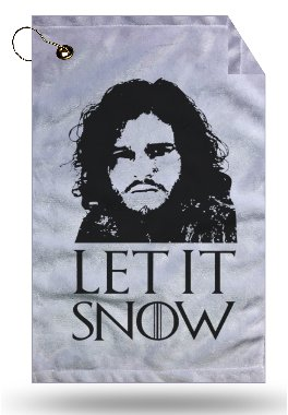 Awesome Let It Snow Fan Made Art Microfiber Velour 11x18
