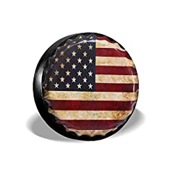 SHOE GONE Car Tire Cover American Flag S...