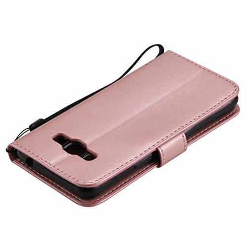 Yiizy Samsung Galaxy J3 Pro Funda, Árbol y Gatos Repujado Diseño Solapa Flip Billetera Carcasa Tapa Estuches Premium PU Cuero Cover Cáscara Bumper Protector Slim Piel Shell Case Stand Ranura para Tarj