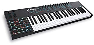 Alesis VI49 | Advanced 49-Key USB MIDI Keyboard & Drum Pad Controller (16 Pads / 12 Knobs / 36 Buttons) (B00IWVWUWA) | Amazon Products