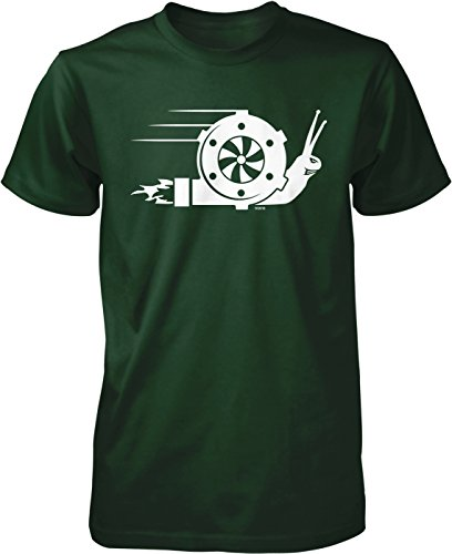 NOFO Clothing Co Turbo Snail, Turbo Boost Men's T-Shirt, M Forest