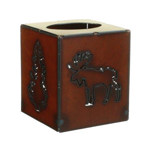 Moose and Tree - Rustic Metal Tissue/Kleenex Box Cover, 5