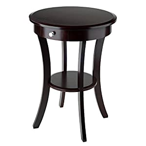Winsome Wood Round Table with Drawer and Shelf