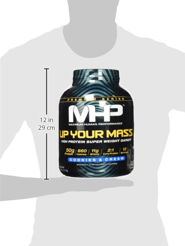 MHP Up Your Mass High Protein Super Weight Gainer, Cookies and Cream, 4.6 Pound by Maximum Human Performance (Image #7)