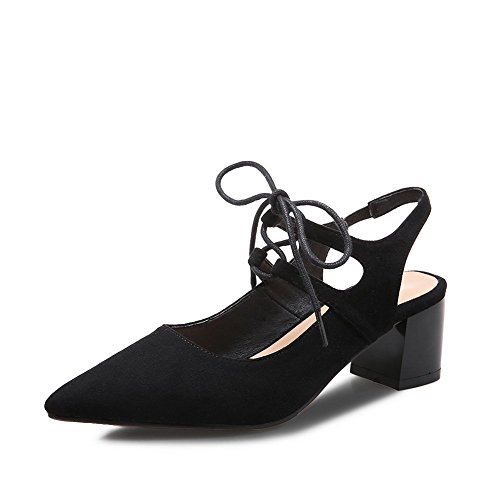 Pointed B Womens Frosted Bungee 4 US Shoes Black 1TO9 M Pumps Toe FwEHBFnq