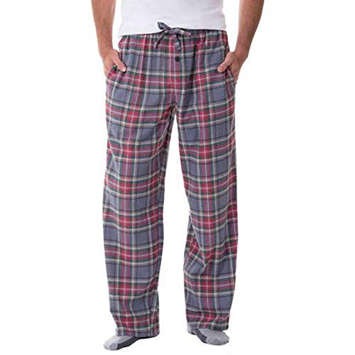 - Fruit of the Loom Men's Yarn-dye Woven Flannel Pajama Pant (X-Large, Green/Red/Grey)