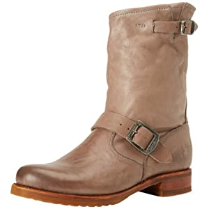 FRYE Women's Veronica Short Boot, Grey Soft Vintage Leather, 5.5 M US