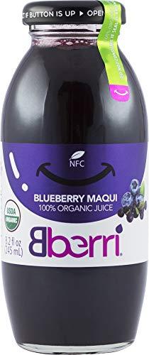 Bberri 100% Organic Blueberry & Maquiberry Juice, Pack of 3 x 8.2 fl oz (Maqui Berry Juice)