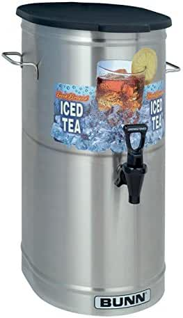 BUNN TDO-4 Commercial Iced Tea Dispenser w/Solid Lid, Oval