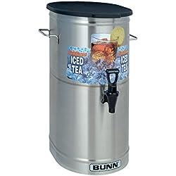 BUNN TDO-4 Commercial Iced Tea Dispenser w/Solid Lid, Oval