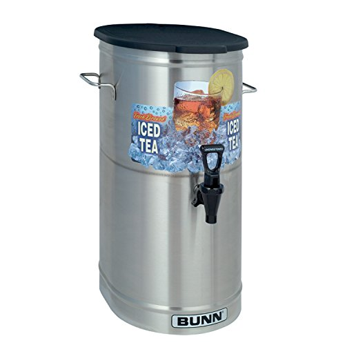 - BUNN TDO-4 Commercial Iced Tea Dispenser w/Solid Lid, Oval