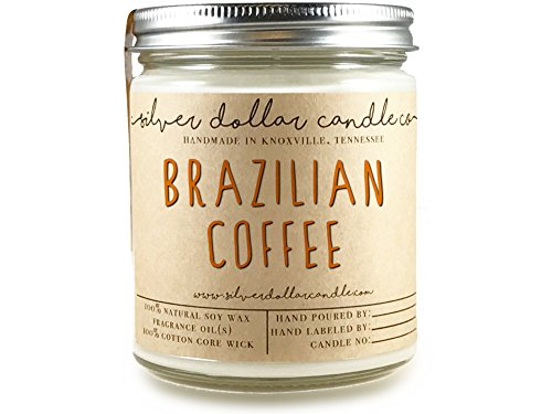 Coffee Scented Candle, 8oz, 100% Soy Wax Scented Candle by Silver Dollar Candle Co. | Great Gift for a Coffee Lover!