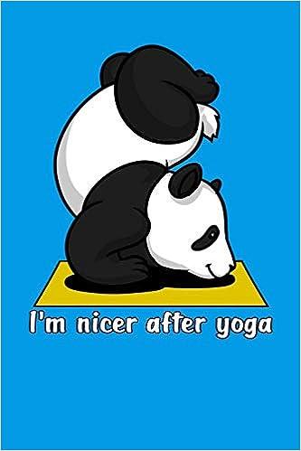 Im Nicer After Yoga: Panda Bear Yoga Notebook: Amazon.es ...